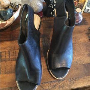 COLE HAAN women's open toed bootie 9.5